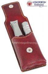 Dovo Nail Clipper and Nose Hair Trimmer - Brown Case