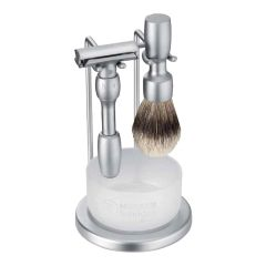Merkur 4pc Vision Shaving Set Satin Finish