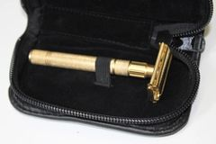 Long Handle Double Edge Safety Razor Gold