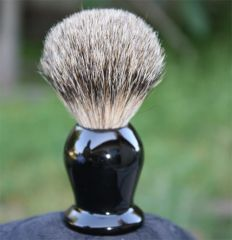 Pure Badger Shaving Brush - Faux Ebony
