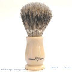 Edwin Jagger Chatsworth Faux Ivory Shaving Brush Super Badger