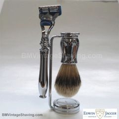 Edwin Jagger Chatsworth Fusion Shaving Set Chrome