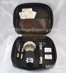 Dovo/Merkur Complete Travel Shaving and Grooming Set