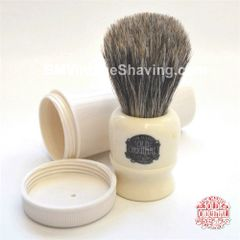 Vulfix Travel Shaving Brush - Pure Badger Lathe Turned Handle