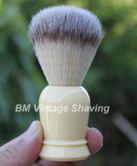 Shaving Brush with Synthetic Hair - Ivory Handle