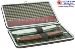 Dovo Straight Razor Set - With 2 Straight Razors - Leather Case