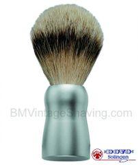 Dovo Silvertip Shaving Brush - Aluminum Handle