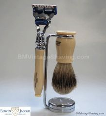 Edwin Jagger Chatsworth Faux Ivory Fusion Shaving Set