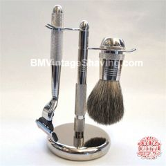 Vulfix 3 piece Shaving Set Chrome
