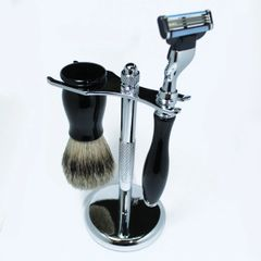 Mach3 Razor & Brush Shaving Set Ebony