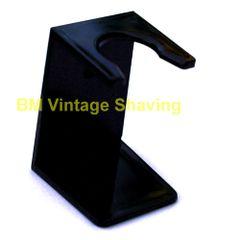 Plastic Shaving Brush Drip Stand Black