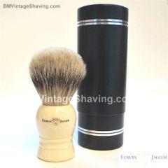 Edwin Jagger Shaving Brush, Faux Ivory, Super Badger XL