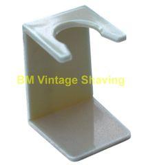 Plastic Shaving Brush Drip Stand Ivory