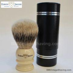 Edwin Jagger Shaving Brush Silver Tip Badger Medium