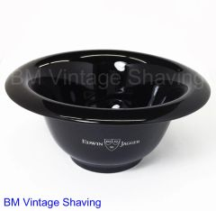 Edwin Jagger Black Porcelain Shaving Bowl