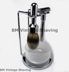 Merkur Futur 4pc Safety Razor Shaving Set Polished
