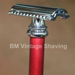 Merkur Barber Pole Double Edge Safety Razor 38C Alum Red