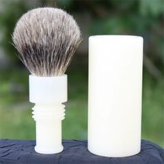 Travel Shaving Brush - Pure Badger Ivory