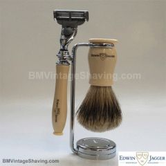 Edwin Jagger Chatsworth Faux Ivory Mach3 Shaving Set