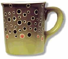 Abstract Trout Stoneware Mug: Brown Trout
