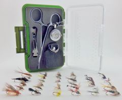 Streamside Starter Kit with 36 Fly Assortment - Fly Box Starter