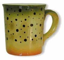Abstract Trout Stoneware Mug: Cutthoat Trout