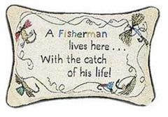 Word Pillow: A Fisherman...His Life