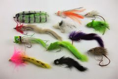 12 Fly Assortment - Bass/Pike Selection B