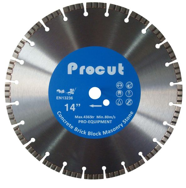 ">SPC000306 - 14"" TURBO LASER WELDED DIAMOND SAW BLADE GENERAL USE 0835 090 7008"