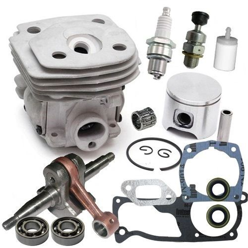 <>HUSQVARNA 357, 359 Jonsered 2156, 2159 OVERHAUL REBUILD KIT STANDARD 47MM