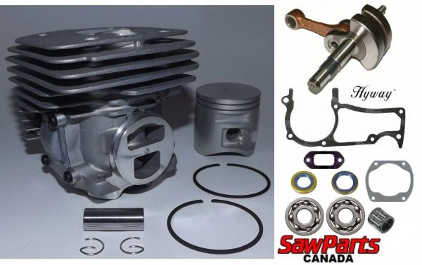 <>HUSQVARNA 365, 372 X-Torq, JONSERED 2172, 2166 OVERHAUL REBUILD KIT PREMIUM 50MM