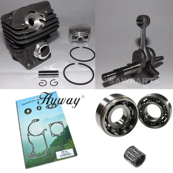STIHL MS260, 026 CYLINDER OVERHAUL KIT NIKASIL 44.7MM