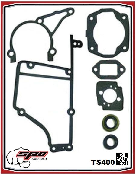 STIHL TS400 GASKET SET With oil seals SPC Brand