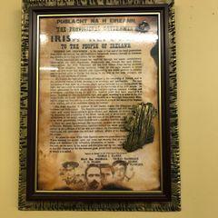 Irish proclamation a4 in frame slate