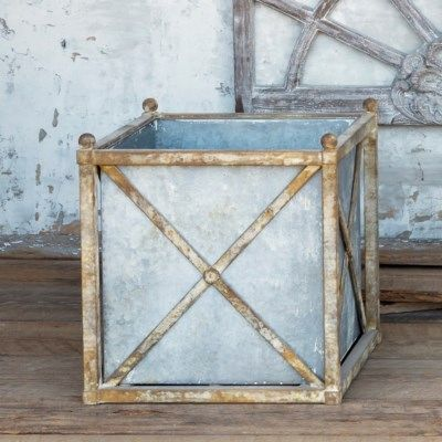 Small Metal Estate Planter