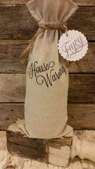 """House Warming"" Wine Bag"