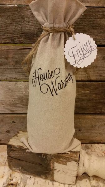 """House Warming"" Wine Bag"
