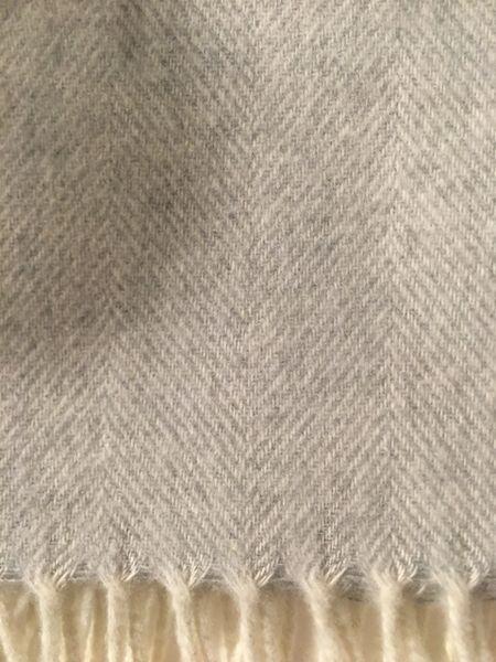 Soft Gray Herringbone Throw