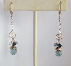 Blue Swirl Earrings