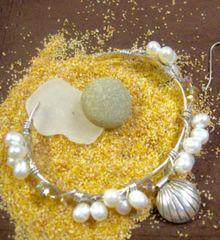 Sterling & Pearl Shell Bracelet
