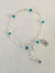 Ovarian Cancer Awareness Lacy Bracelet