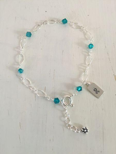 Ovarian Cancer Awareness Lacy Bracelet
