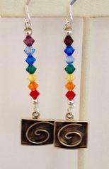 Chakra Energy Swirl Earrings