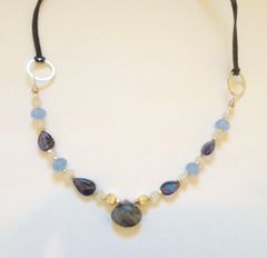 Iolite & Moonstone Necklace