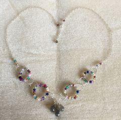 Mardi Gras Gemstone Necklace