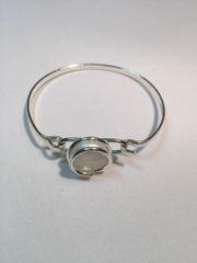 Coin Pearl Bangle Bracelet