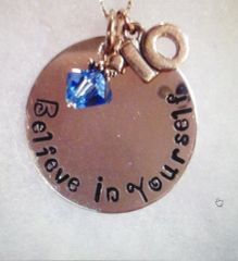 Personalized Hand Stamped Necklace (Large)