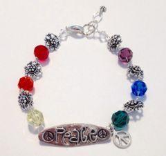 Chakra Peace Bracelet