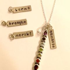 Linear Chakra Charm Necklace