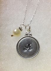 Framed Initial Sterling Necklace